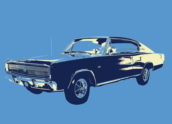 Mixed Media - 67 Charger Pop Art by Dan Sproul