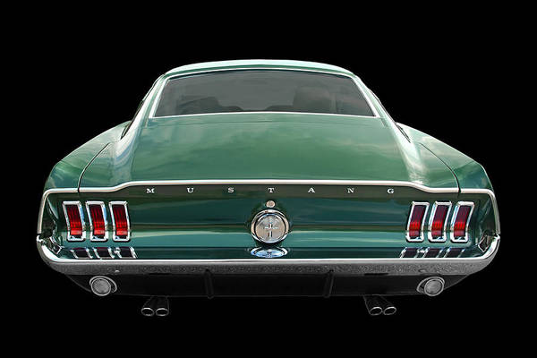 Photograph - 67 Mustang Fastback Rear by Gill Billington