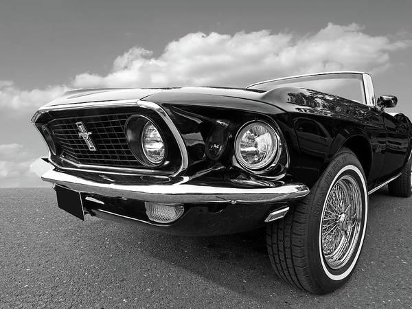 Photograph - 69 Mustang Convertible by Gill Billington