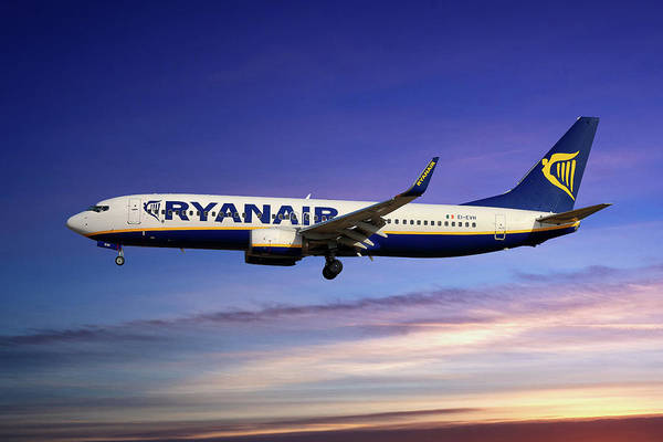 Wall Art - Photograph - Ryanair Boeing 737-8as by Smart Aviation
