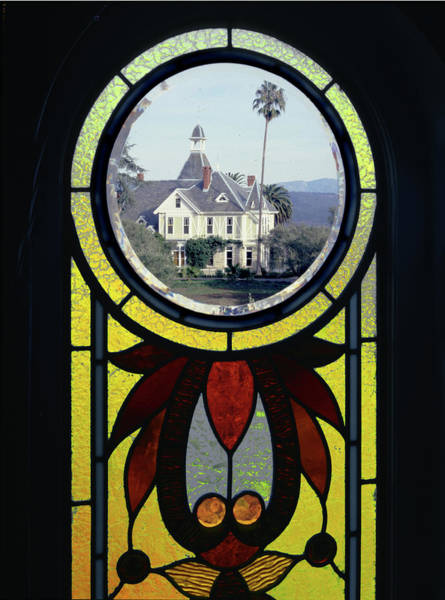 Photograph - 6b6317 Stained Glass Window At Falcon Crest Set by Ed Cooper Photography