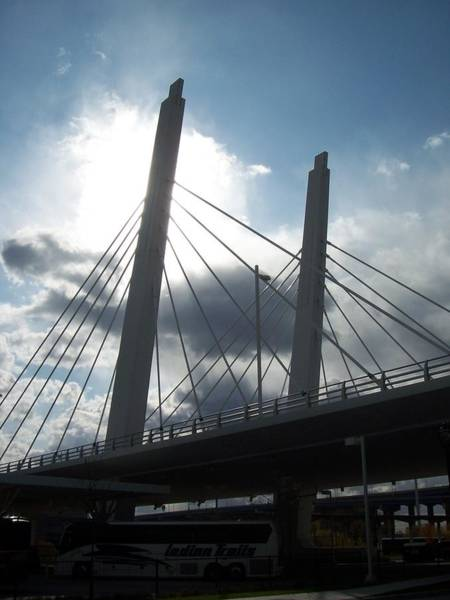 Photograph - 6th Street Bridge Backlit by Anita Burgermeister
