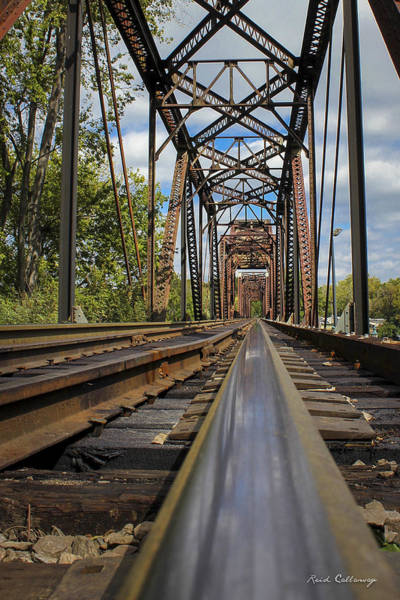 Photograph - 6th Street Reflections Augusta Georgia Trestle Bridge by Reid Callaway