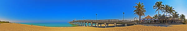 6x1 Venice Florida Beach Pier Art Print