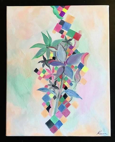 Architecture Painting -  Perfume, Abstract Art Print by Kanako Kumamaru