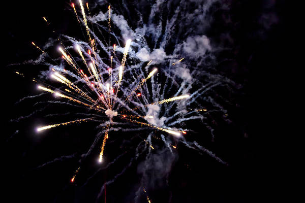 Photograph - A Shining Colorful Firework by Gina Koch