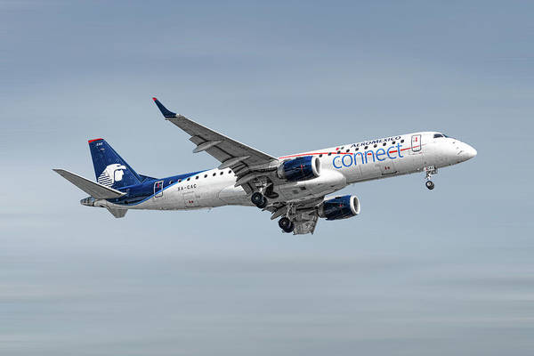 Connect Wall Art - Mixed Media - Aeromexico Connect Embraer Erj-190ar by Smart Aviation