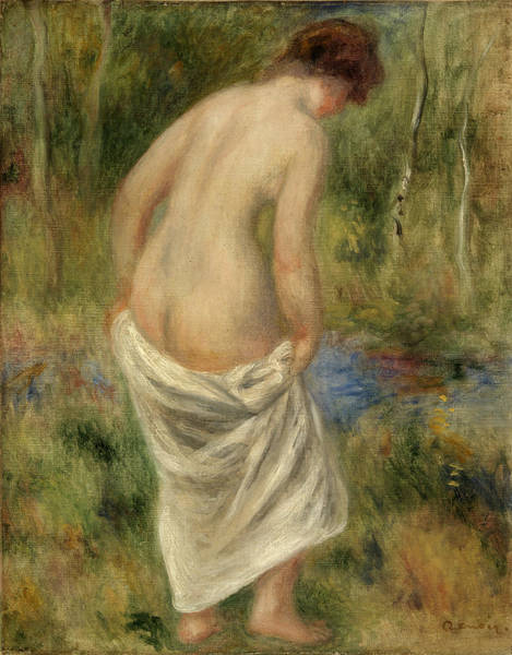 Wall Art - Painting - After The Bath by Pierre-Auguste Renoir