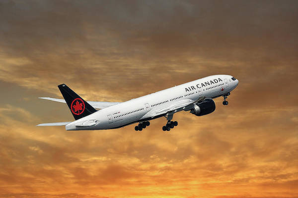 Boeing Mixed Media - Air Canada Boeing 777-233 by Smart Aviation