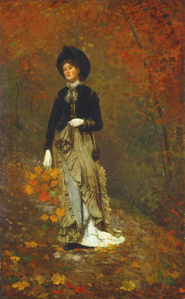 Wall Art - Painting - Autumn by Winslow Homer