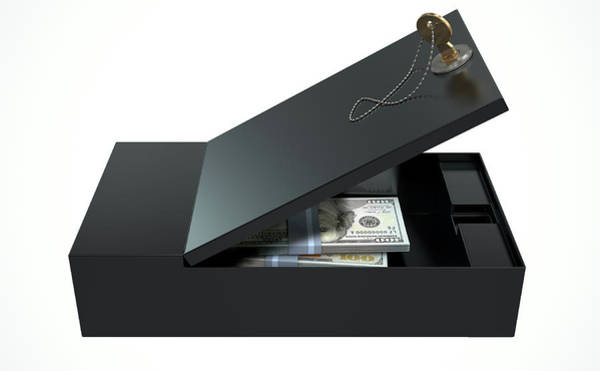 Banking Digital Art - Black Safe Deposit Box by Allan Swart