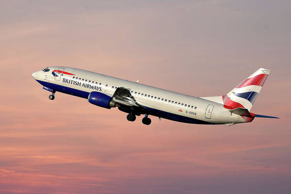 Britain Photograph - British Airways Boeing 737-400 by Smart Aviation