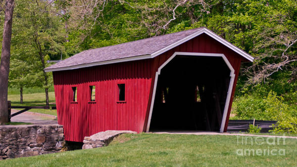 Photograph - Covered Bridge At Kent Falls State Park.  by New England Photography