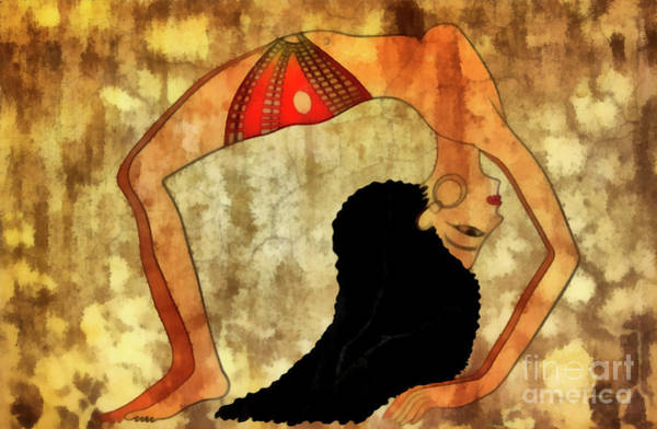 Wall Art - Digital Art - Dancer Of Ancient Egypt by Michal Boubin
