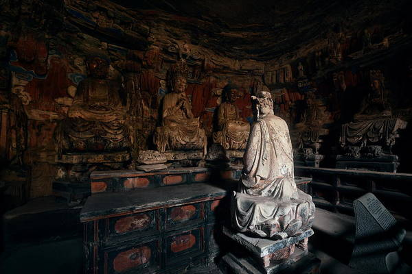 Photograph - Dazu Rock Carvings  by Songquan Deng