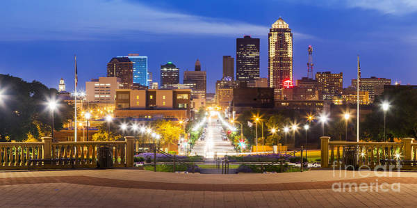 Wall Art - Photograph - Des Moines From The State Capitol by Twenty Two North Photography