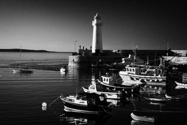 Wall Art - Photograph - Donaghadee Harbour And Lighthouse County Down Northern Ireland  by Joe Fox