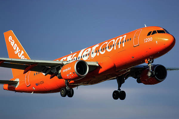 Wall Art - Mixed Media - Easyjet 200th Airbus Livery Airbus A320-214 by Smart Aviation