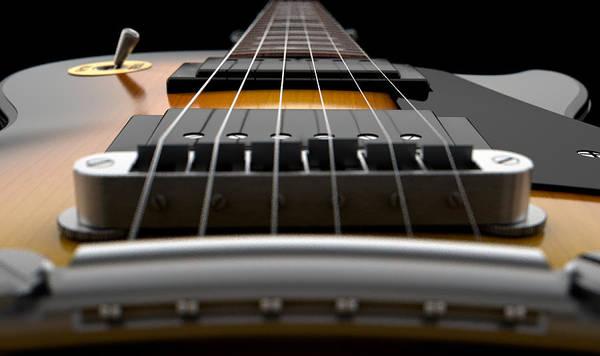 Wall Art - Digital Art - Electric Guitar Abstract by Allan Swart