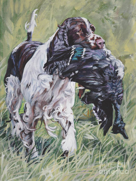 Field Spaniel Painting - English Springer Spaniel by Lee Ann Shepard