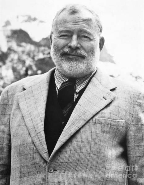 Nobel Prize Laureate Photograph - Ernest Hemingway by Granger