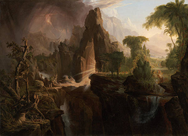 Painting - Expulsion From The Garden Of Eden by Thomas Cole
