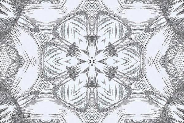 Wall Art - Digital Art - Fern Frost Mandala by J McCombie