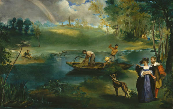 Painting - Fishing by Edouard Manet