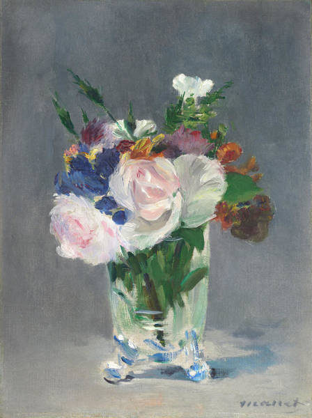 Painting - Flowers In A Crystal Vase by Edouard Manet