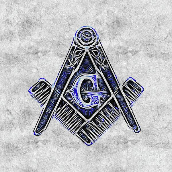 Wall Art - Painting - Freemason, Mason, Masonic Symbolism by Pierre Blanchard