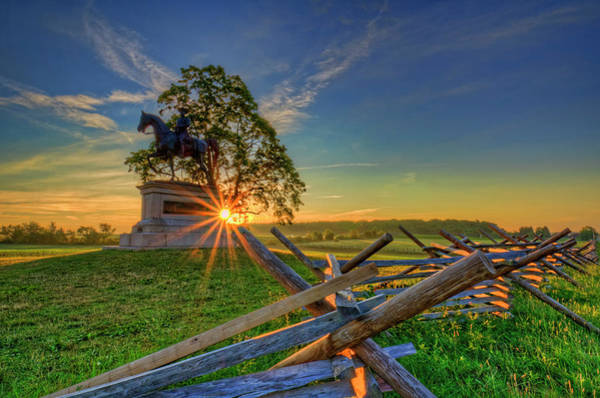 Wall Art - Photograph - Gettysburg Mcpherson Ridge Sunrise by Craig Fildes