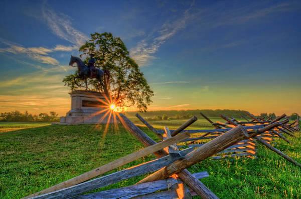 Wall Art - Photograph - Gettysburg Mcpherson Ridge Sunrise by Craig Fildes