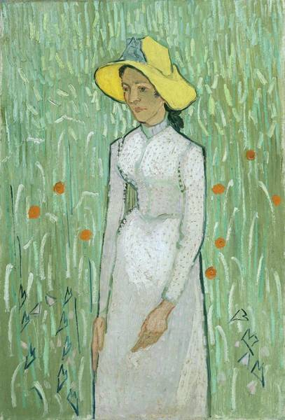 Wall Art - Painting - Girl In White by Vincent Van Gogh