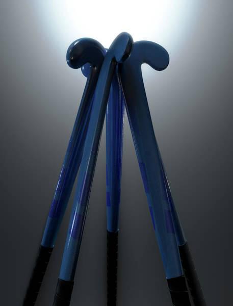 Playing Field Wall Art - Digital Art - Hockey Sticks Circle by Allan Swart