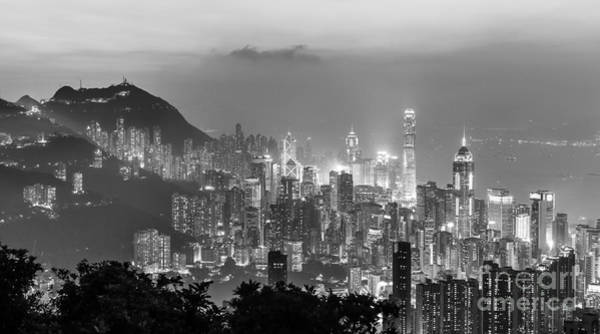 Photograph - Hong Kong Skyline by Didier Marti