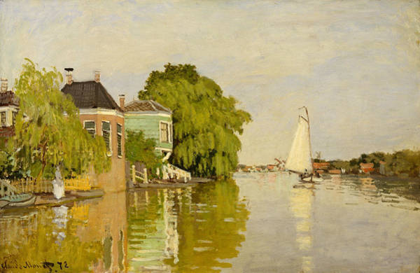 Painting - Houses On The Achterzaan by Claude Monet