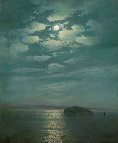 Wall Art - Painting - Lake Sevan By Night by MotionAge Designs