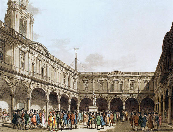 Wall Art - Drawing - London Royal Exchange by Granger