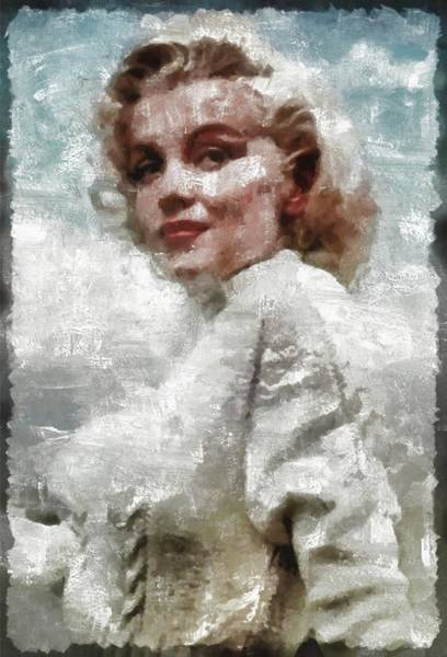 Pinewood Painting - Marilyn Monroe Vintage Hollywood Actress by Mary Bassett