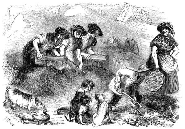 Dust Drawing - Mayhew, London, 1861 by Granger
