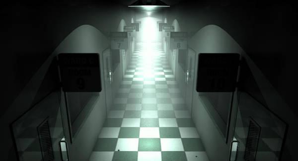 Doorway Digital Art - Mental Asylum Haunted by Allan Swart