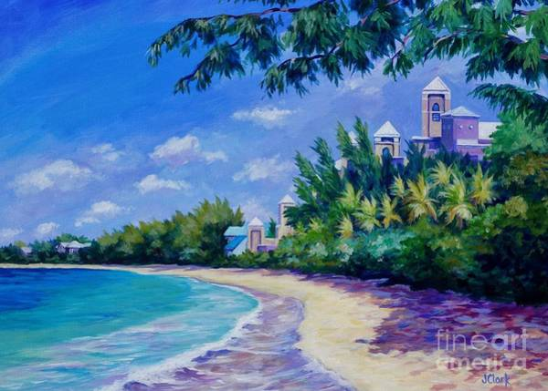 Wall Art - Painting - 7 Mile Beach And Ritz Carlton 5x7  by John Clark