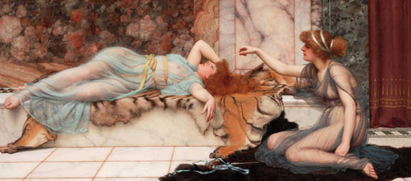 Wall Art - Painting - Mischief And Repose by John William Godward