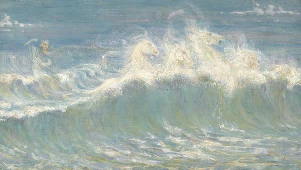 Wall Art - Painting - Neptune's Horses by Walter Crane
