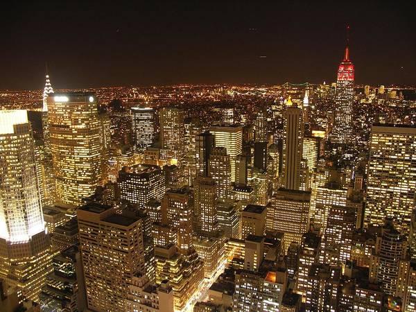 Skyline Digital Art - New York by Super Lovely