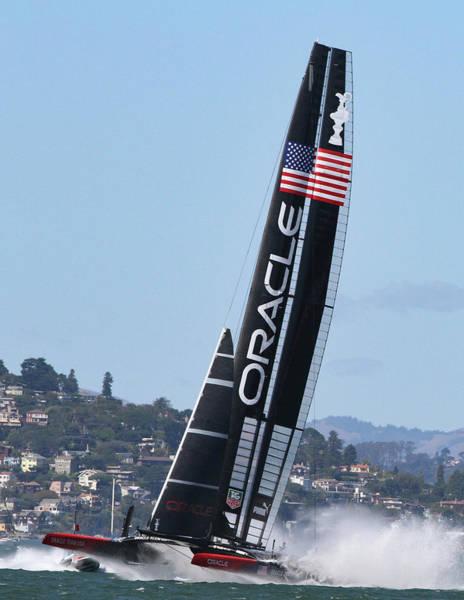Photograph - Oracle Team U S A by Steven Lapkin