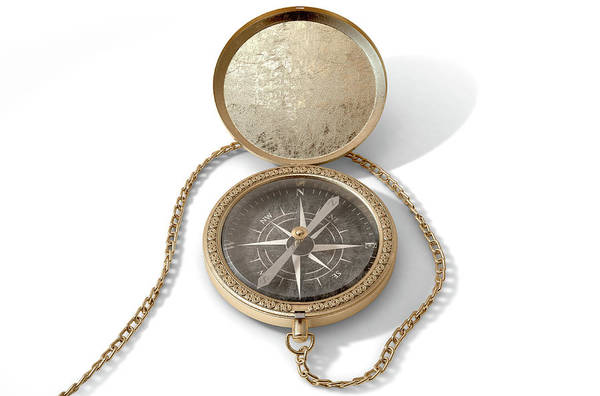 Hiking Digital Art - Ornate Pocket Compass by Allan Swart