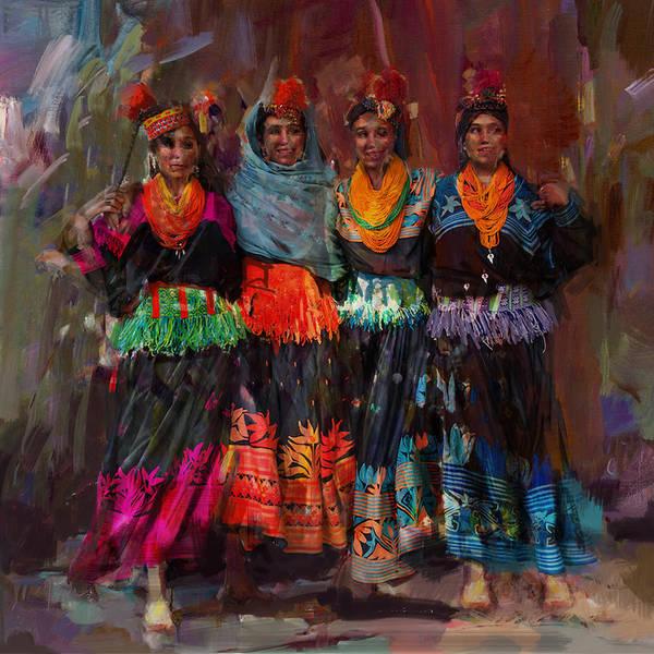 Maryam Wall Art - Painting - 7-pakistan Folk Chitraal by Maryam Mughal