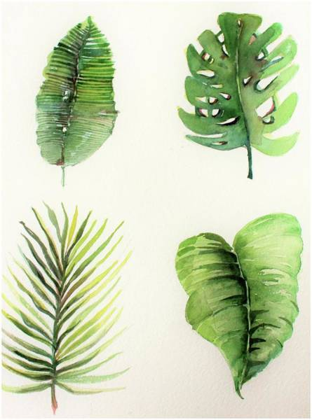 Wall Art - Painting - Palms by Mindy Newman