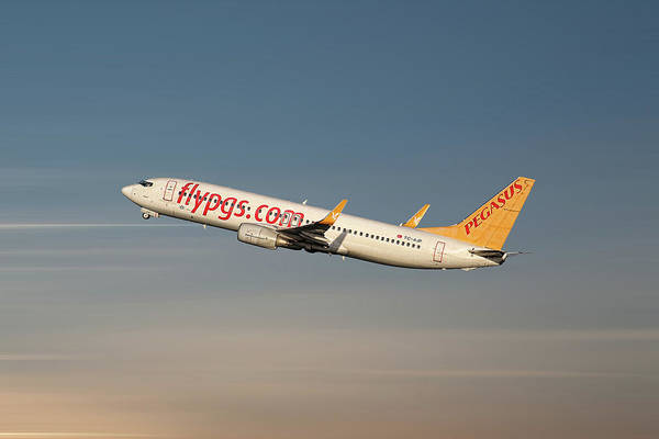 Wall Art - Mixed Media - Pegasus Airlines Boeing 737-82r by Smart Aviation